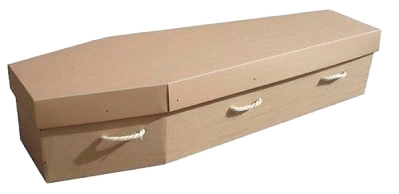Brown-Economy-Cardboard-Coffin_burned Crescent Funeral Services | Crescent Funeral Coffin Range