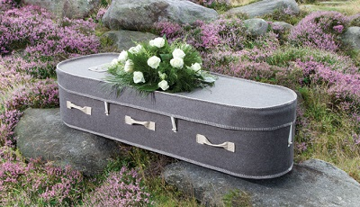 grey_wool_coffin Crescent Funeral Services | Crescent Funeral Coffin Range
