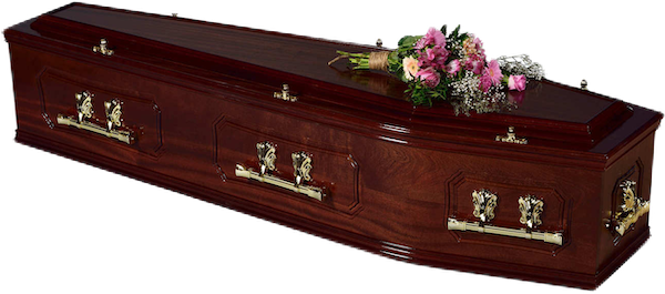 pitminstermahoganycoffin_burned Crescent Funeral Services | Crescent Funeral Coffin Range