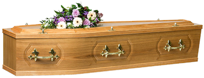 traditionalcoffin_burned Crescent Funeral Services | Crescent Funeral Coffin Range